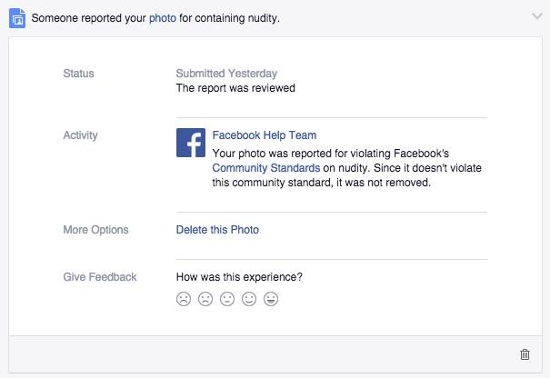Reported facebook pictures
