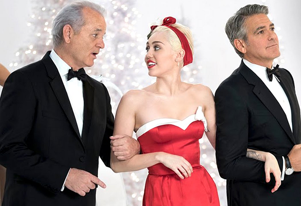 bill murray miley cyrus george clooney a very murray christmas preen - Miley Cyrus Christmas