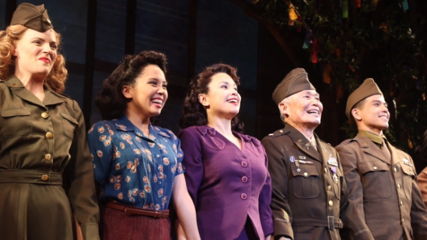 Lea Salonga along with the rest of the cast of Allegiance