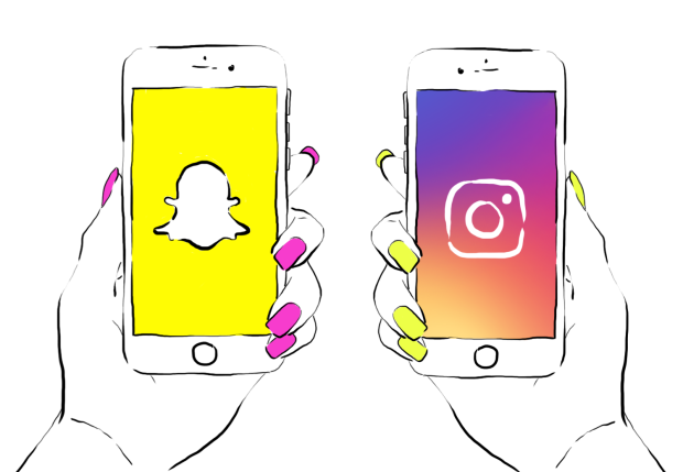 Resultado de imagen de de snapchat a instagram stories