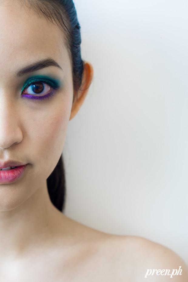 make colorful glitter beauty tutorial preen