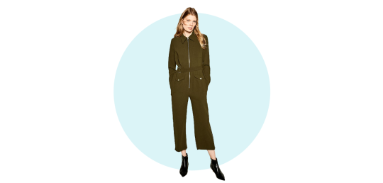 Long zipped jumpsuit, Zara