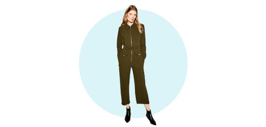 Long zipped jumpsuit, Zara