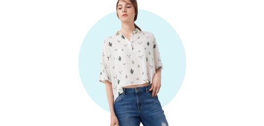 Printed Flowy Shirt, P1,995, Mango