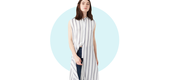 Flowy striped blouse, P2,795, Mango