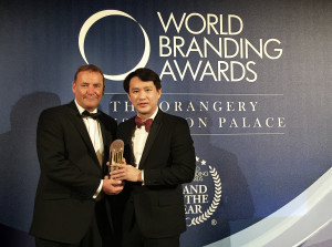 steven tan and richard rowles at the world branding awards in london
