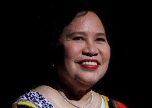miriam defensor santiago smiling