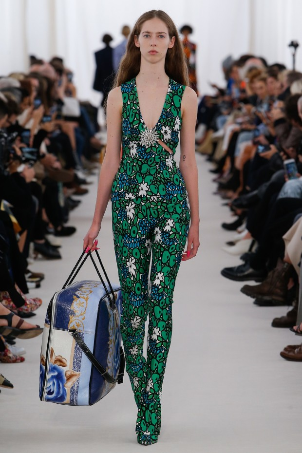 balenciaga jumpsuit at paris fashion week spring/summer 2017