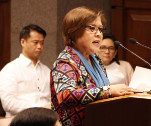 sen leila de lima in the senate