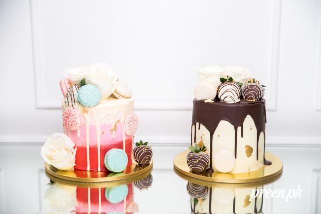 ombre drip cake