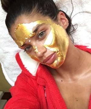 victoria's secret gold mask