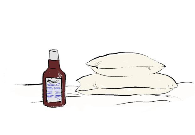 pillow and pillow spray