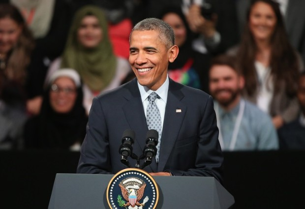 President Obama And The First Lady Attend Town Hall Event In Central London