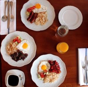 fob tocino longganisa tapa plates food