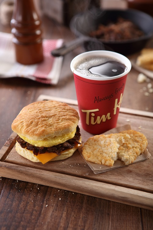 Coffee and Steak Biscuit tim hortons
