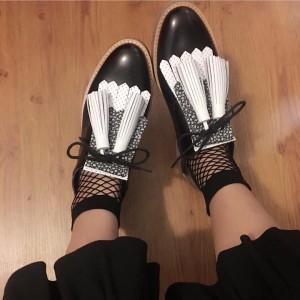 fringy shoes