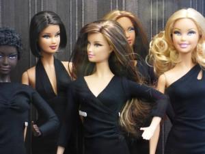 women barbie group