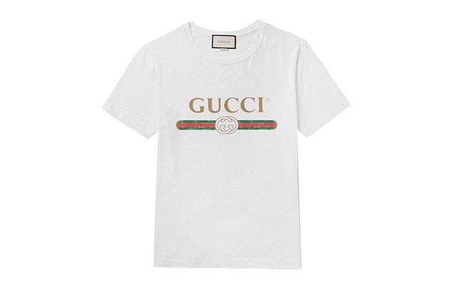 gucci vintage printed shirt