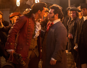 Beauty and the Beast (2017) Luke Evans as Gaston and Josh Gad as LeFou