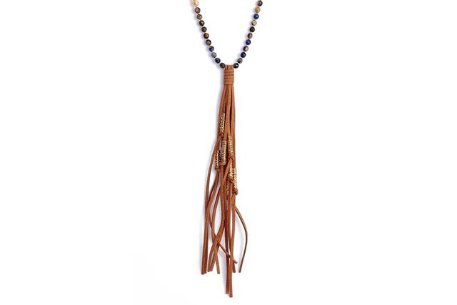 camelflage love affect tassel necklace