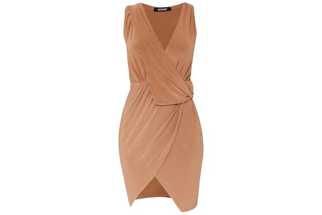 camelflage missguided drape mini dress