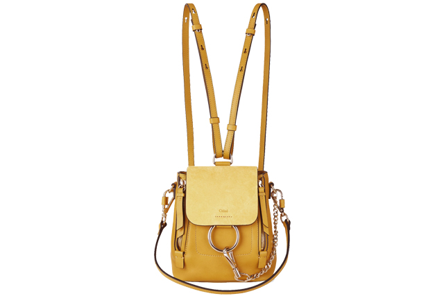 chloe suede and leather mini faye backpack