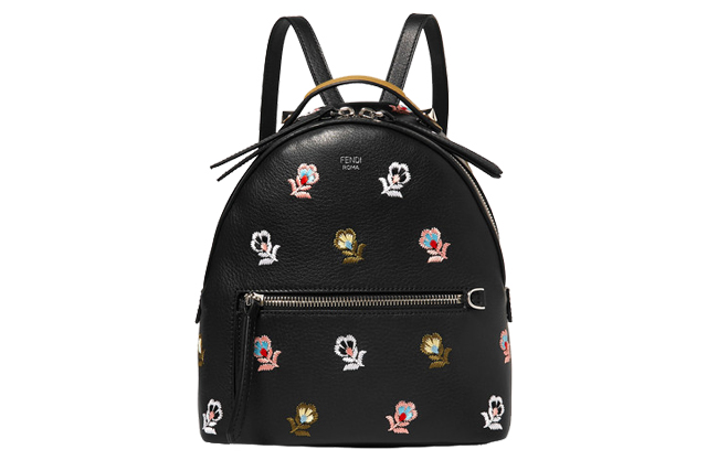 fendi embroidered backpack