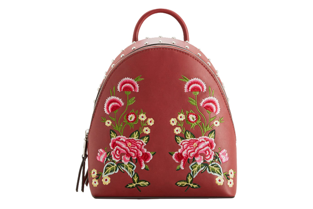mango embroidered backpack