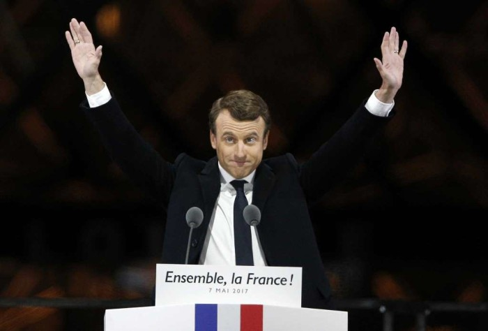 I'll defend country, says new French President Macron