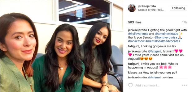 Photo courtesy of Jerika Ejercito's Instagram account