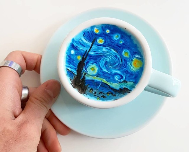 latte art van gogh_kangbin lee