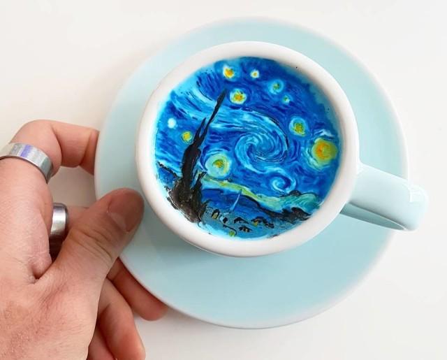 latte art van gogh_kangbin lee