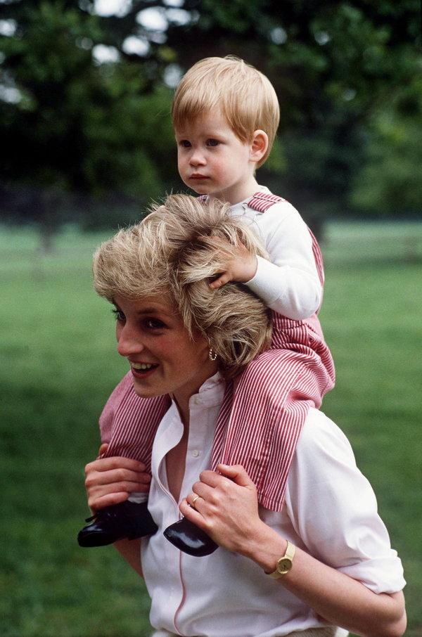 Diana And Harry At Highgrove