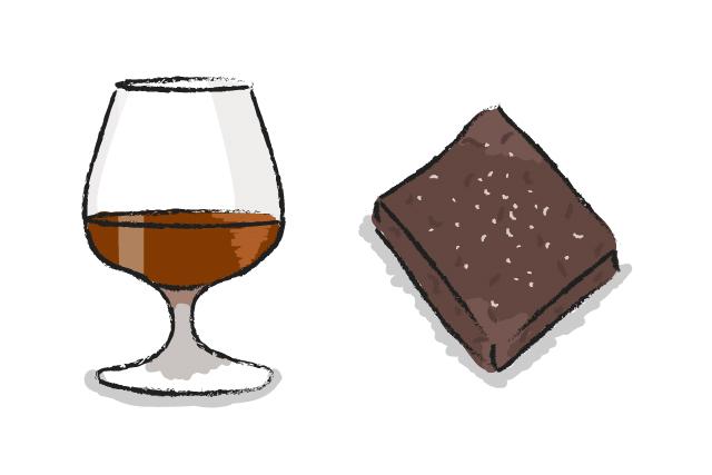 Brandy and Chocolate Brownies