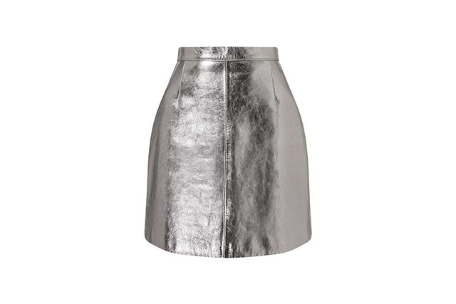 miss selfridge leather skirt