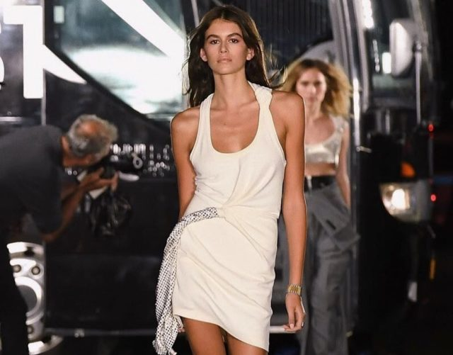 6987f34d Model Kaia Gerber is making a big impression at her New York Fashion Week  debut. But what's got people talking is how she looks and walks like her ...