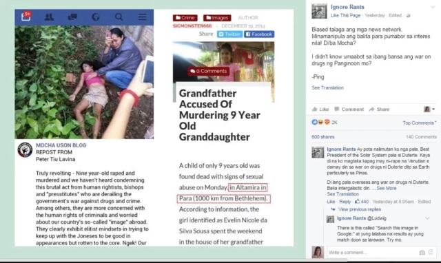A List of Mocha Uson's Fake News Posts
