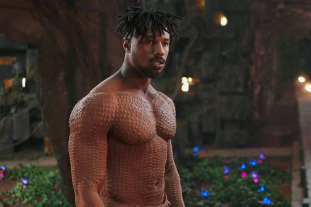 Black Panther fan busts retainer watching shirtless Michael B Jordan scene