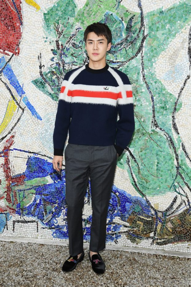 EXO s Sehun is the best dressed man at Louis Vuitton for the second year in  a row f5576768cb