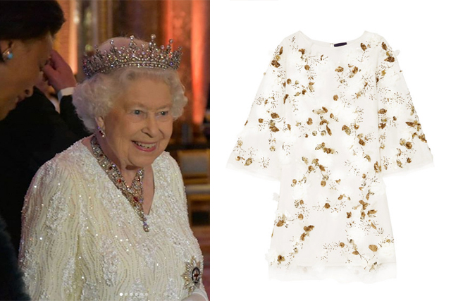 queen bead dress