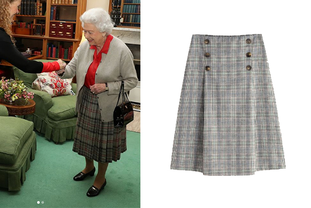 queen plaid skirt