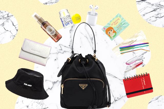 491312866ac676 Handbag Edits: The extras you can throw in the Prada Logo Bucket Bag