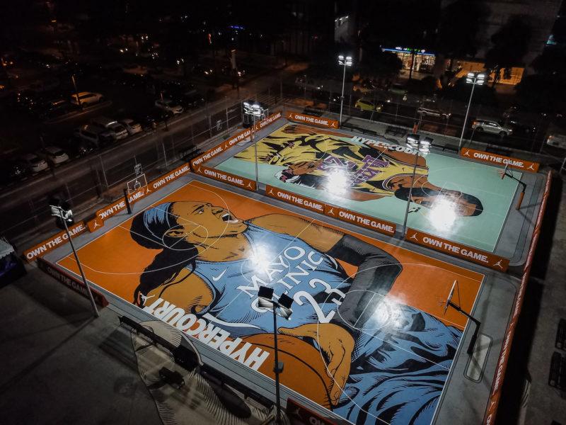 Maya Moore_Nike Hyper Court for Her_Aerial Shot