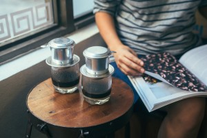 You may want to bring some reading material with you when you go—waiting for the coffee to slow drip takes a while.