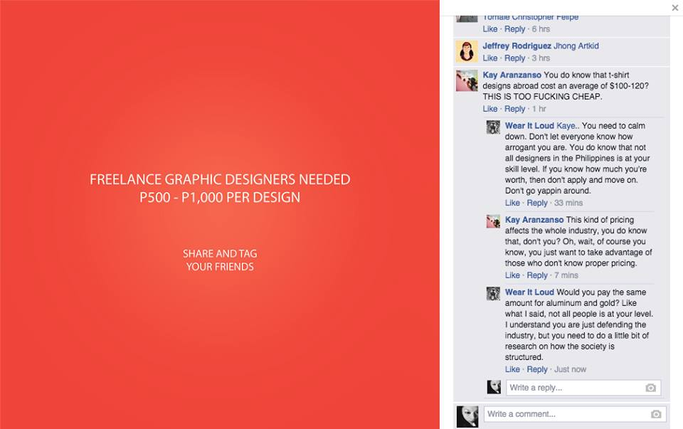 Dear Clients P500 Is Hardly A Graphic Designer S Pay Check Preen Ph