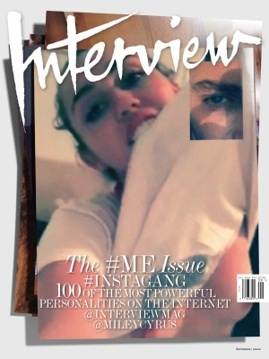 Miley Cyrus Interview preen cover