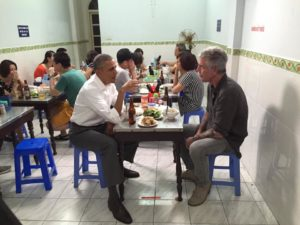Anthony Bourdain Treats President Obama to a $6 Dinner