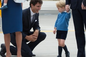 WATCH: Prince George Rejects a High-Five From Canadian Prime Minister Justin Trudeau