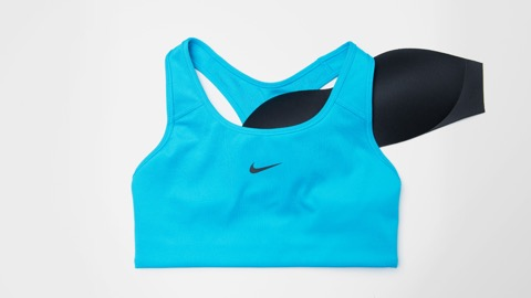 nike swoosh one piece pad sports bra