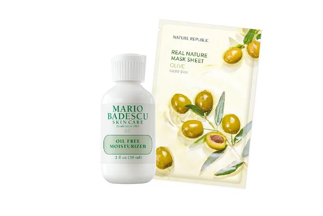 preen-skincare-flight-plane-mario-badescu-moisturizer-nature-republic-olive-sheet-mask